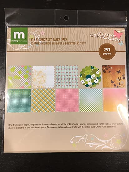Amazon com: Making Memories 8x8 Just Chillin Specialty Paper