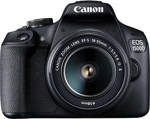 Canon Digital SLR Camera EOS 1500D 24.1 with EF S18-55 is II Lens