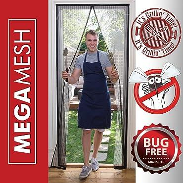 """MegaMesh Magnetic Screen Door - Velcro Fits Doors Up to 34""""x82"""""""