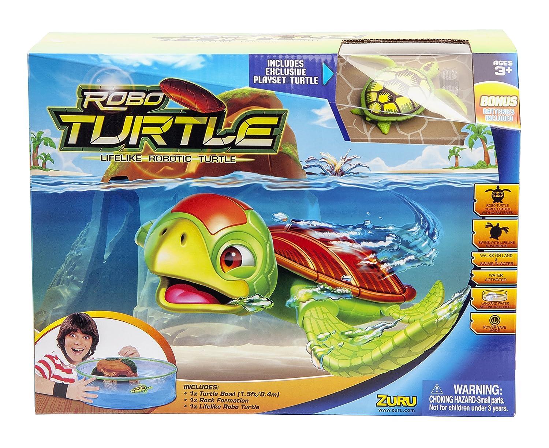 Robofish - Robo Tortugas, Acuario con Isla (Goliath 32828)