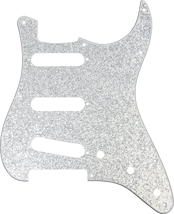 Silver Sparkle D/'Andrea Pro Stratocaster//Strat 11-Hole Pickguard DPP-ST-SIS