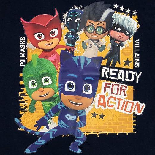 PJ Masks Pijamas de Manga Larga para niños Ajuste Ceñido