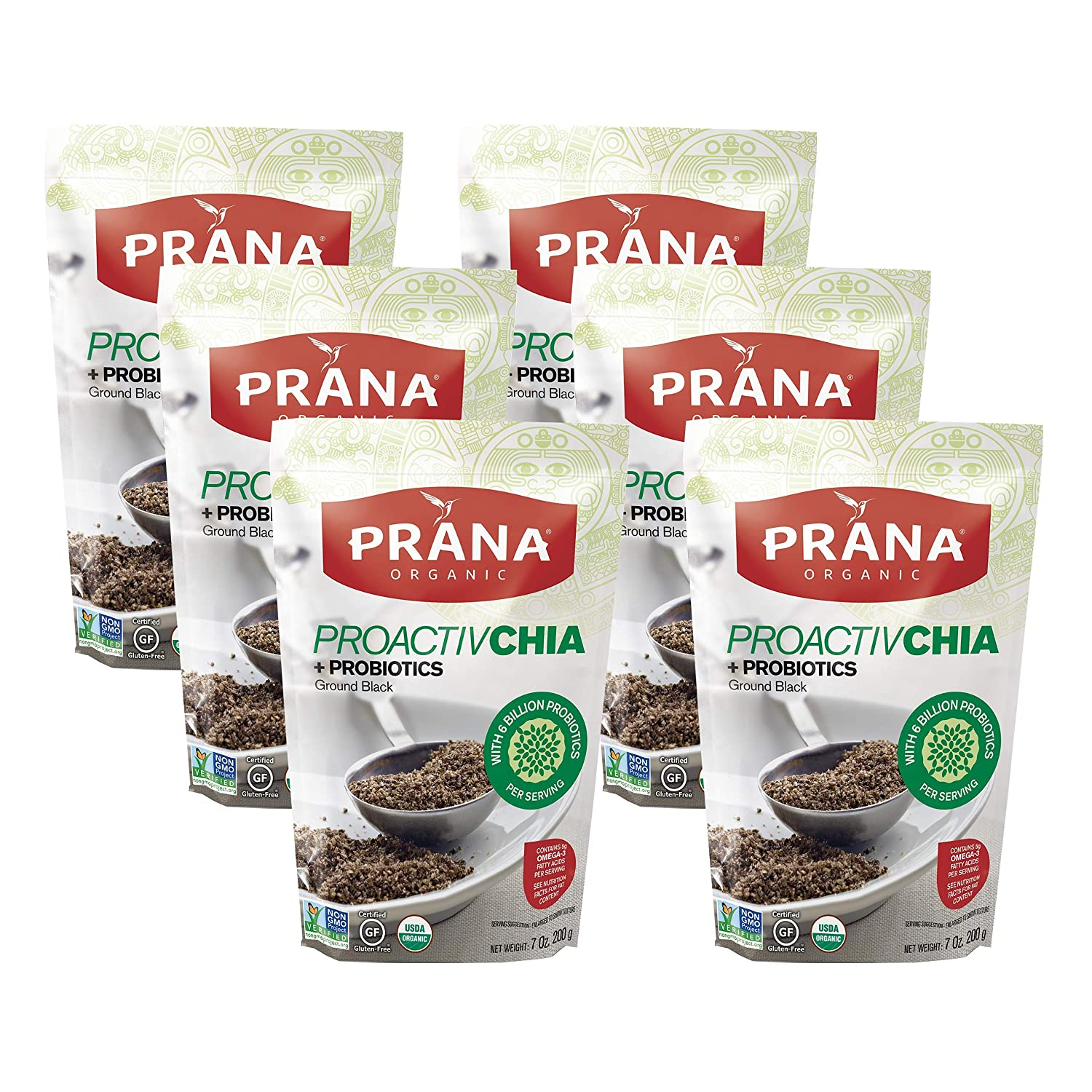 PRANA Proactivchia Organic Ground Black Chia Seeds ...