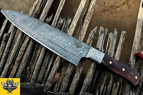 amazon com tnz 132 usa damascus chef knife 12 2 long 7 2 blade