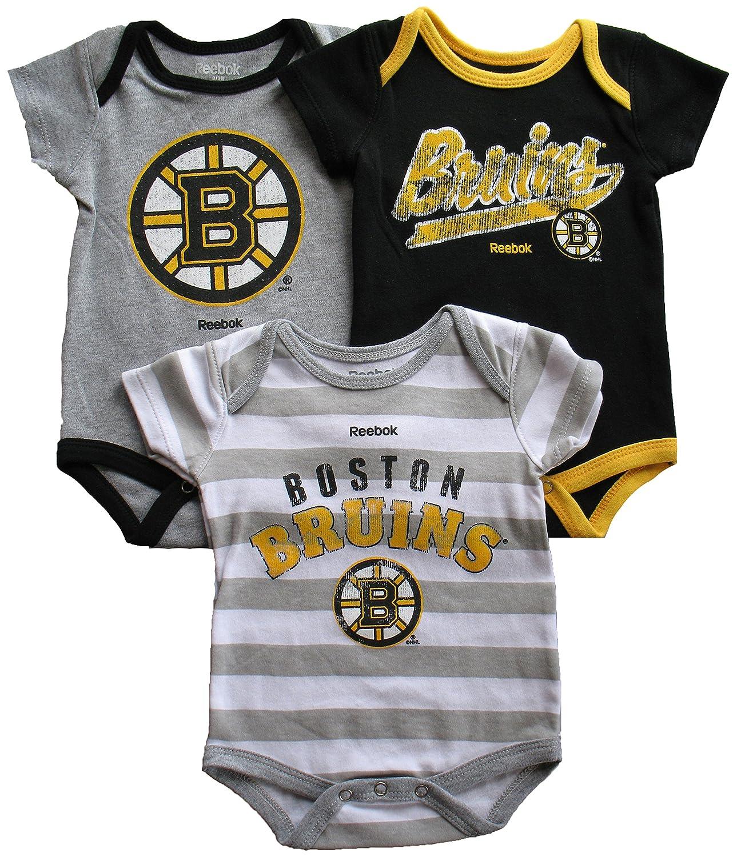 Boston Bruins Baby 3-Piece Creeper Set Reebok