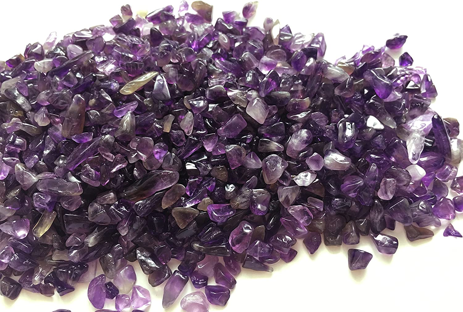 Zungtin 1 lb Amethyst Small Tumbled Chips Crushed Stone Healing Reiki Crystal Jewelry Making Home Decoration