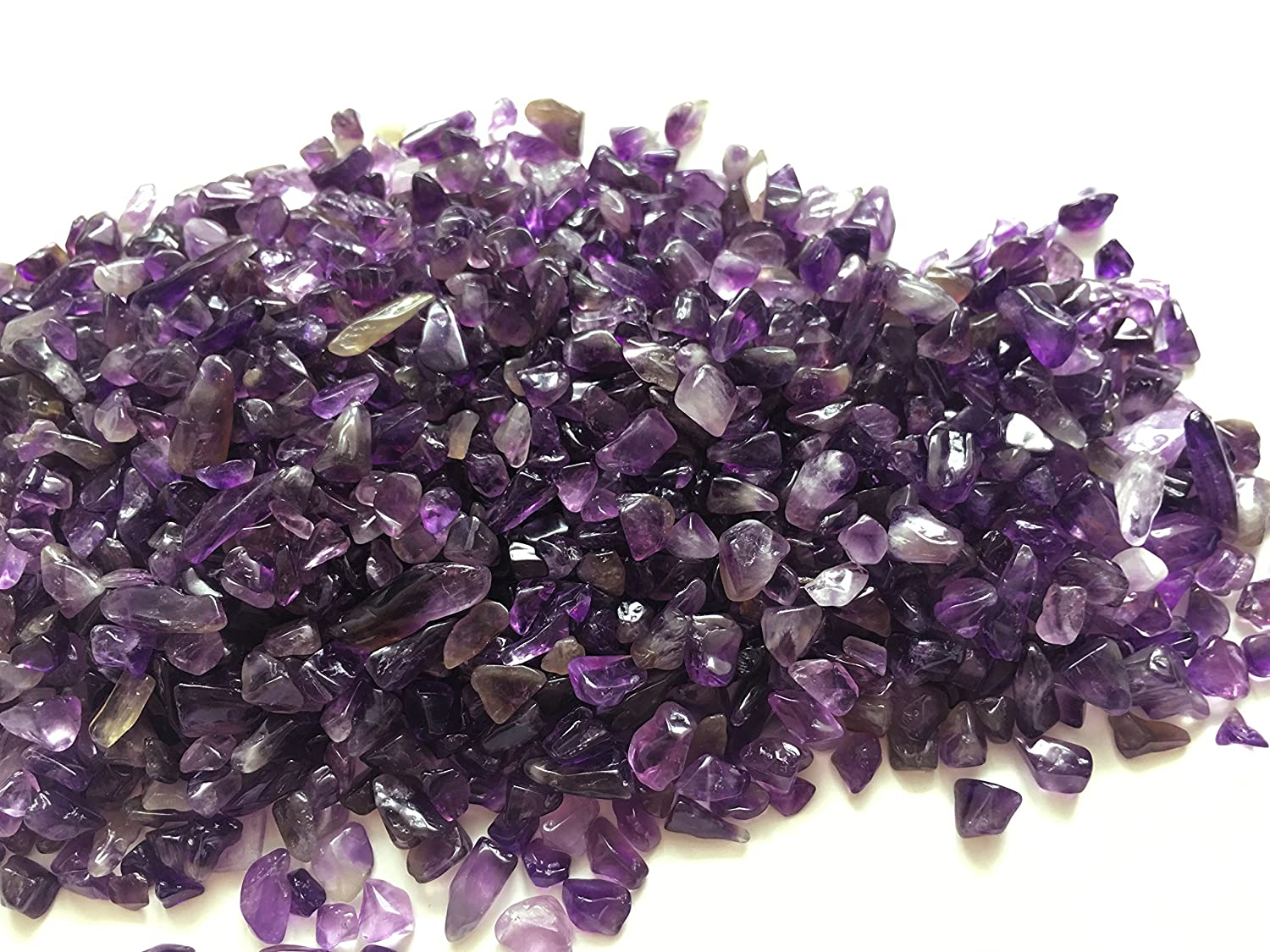 Zungtin 1 lb Amethyst Small Tumbled Chips Crushed Stone Healing Reiki Crystal Jewelry Making Home