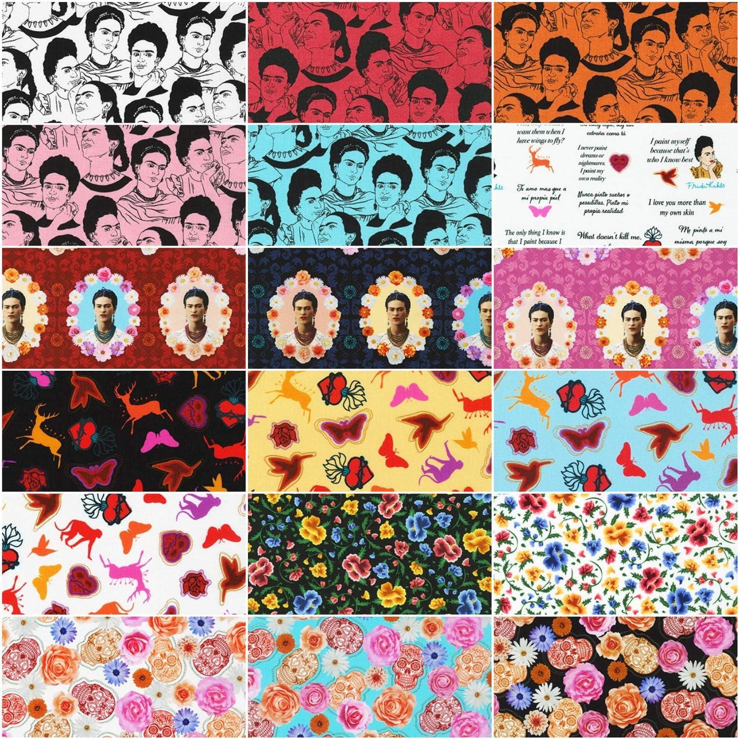 Frida Kahlo 18 Fat Quarters 4 Panels Robert Kaufman Fabrics FQ-1689-22