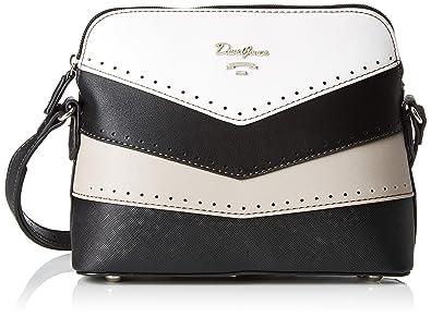 39189c40251c David Jones 5926-1, Women's Cross-Body Bag, Black, 8x18x22 cm (W x ...