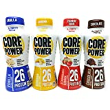 Core Power Four Flavor Bundle: Three 11.5 FL Oz Bottles each of Strawbery Banana, Vanilla, Banana, and Chocolate
