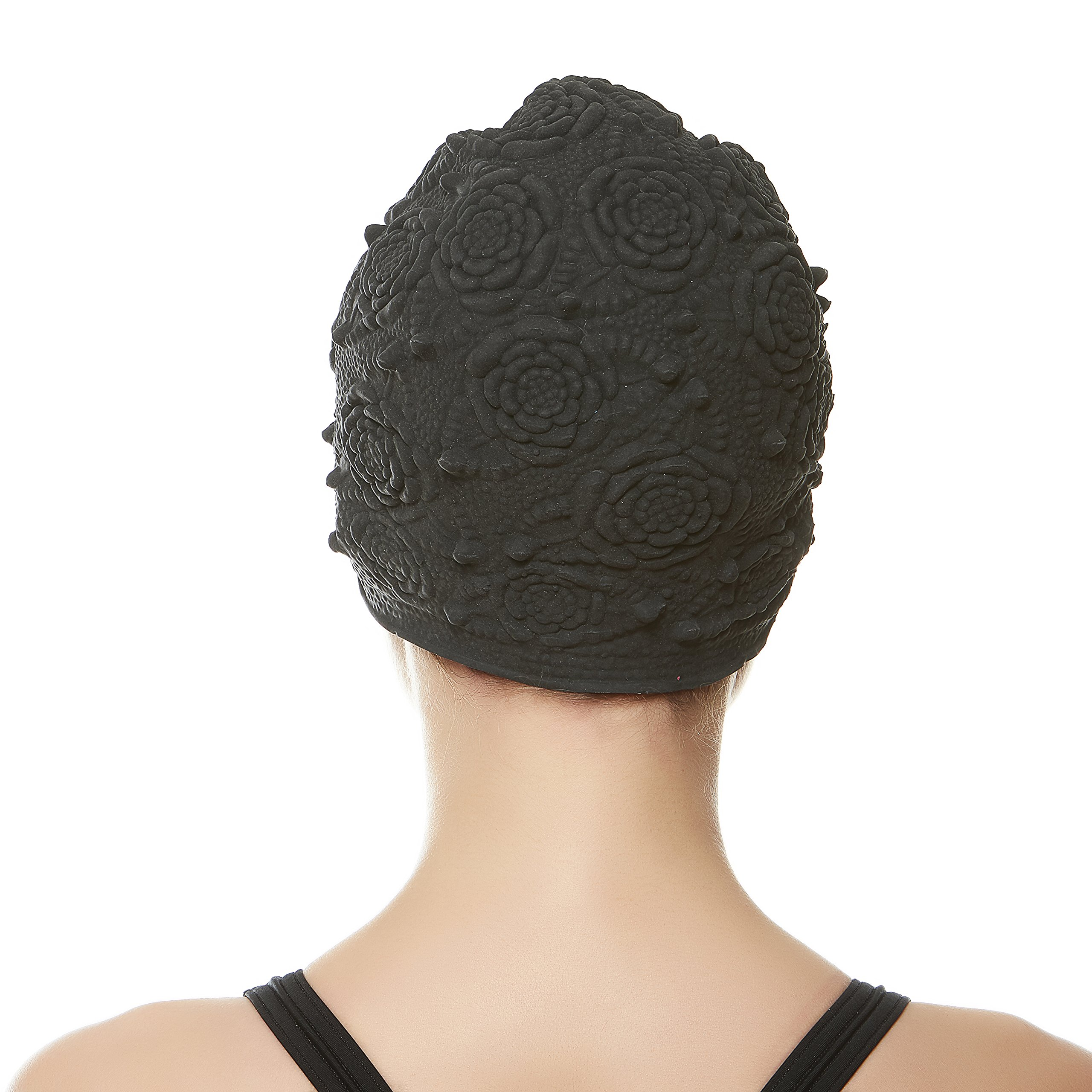 1d19a3c07f5 Beemo Swim Bathing Caps for Women/Girls Retro Style Latex with Embossed  Flower Pattern Ornament Swimming Hat Long & Short Hair | Team Immortal |  Forever Fit ...