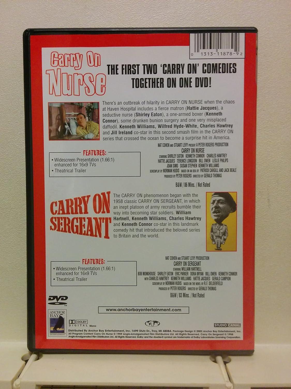 Amazon com: Carry on Nurse/Carry on Sergeant: Kenneth Williams