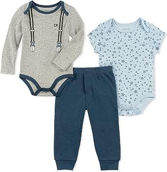 CALVIN KLEIN Baby Boys 3 Pieces Bodysuit Pant Set