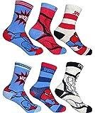 6er Pack Spiderman Kinder Jungen Socken Strümpfe Gr. 23 - 34