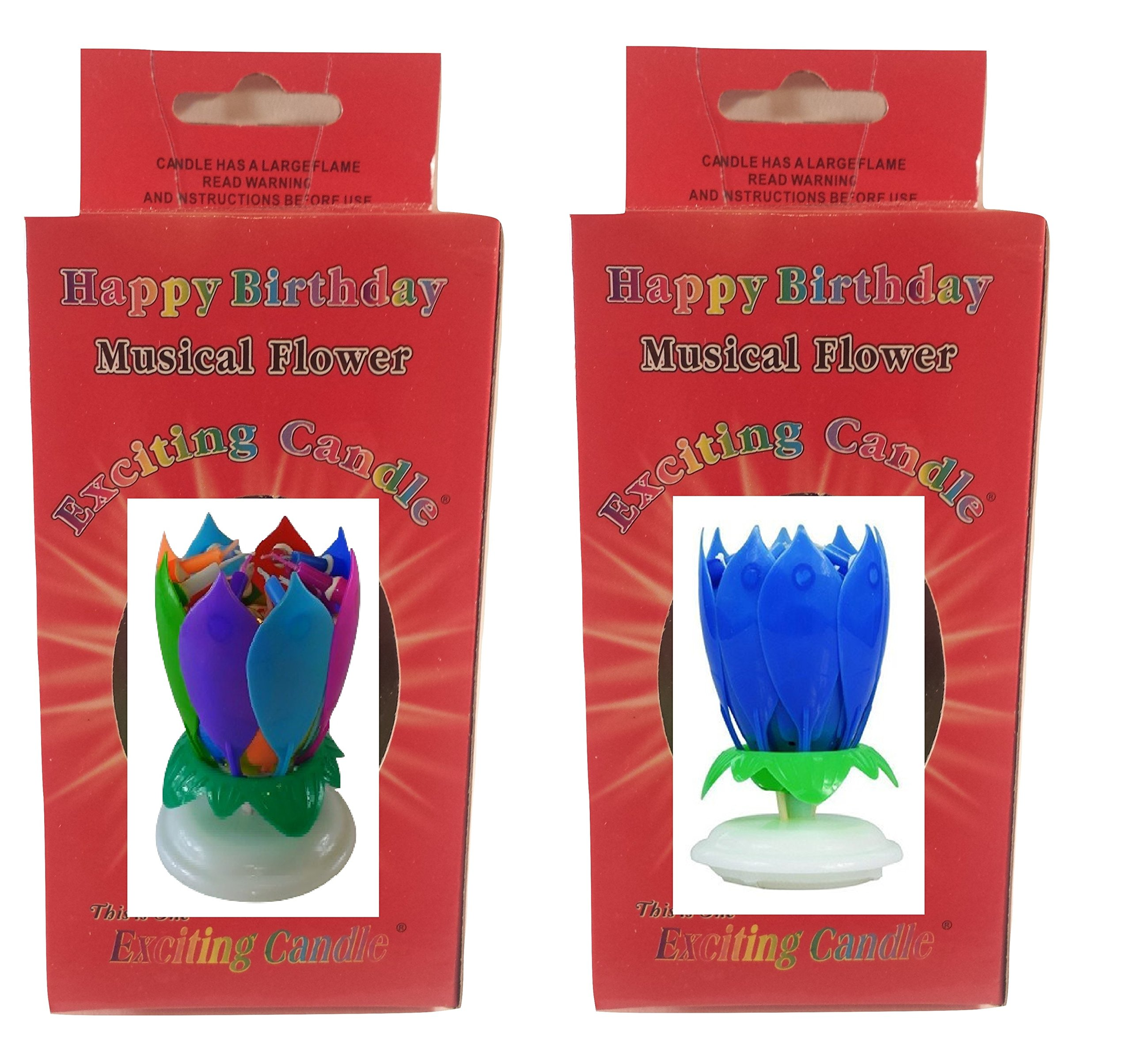 Birthday Candle Two Pack (Rainbow Blue)