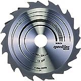 Bosch 2608640800 Lame de scie circulaire Speedline Wood 190 x 30 x 2,6 mm, 12, 1 pièce