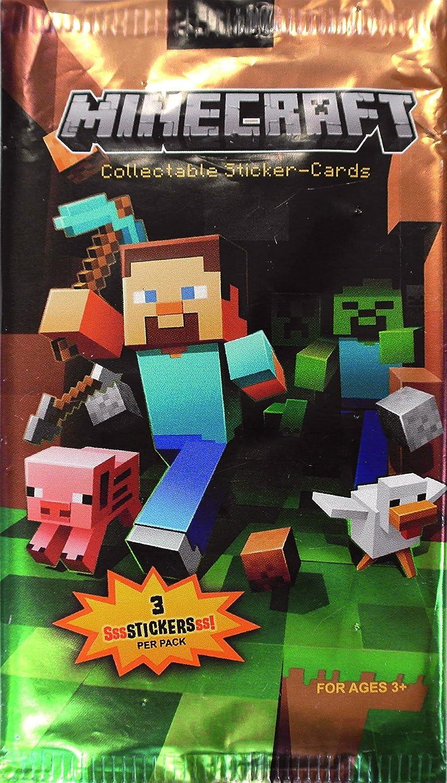 Minecraft - Pack 3 Cartas (varios modelos) - Minecraft blister 3 sobres, Otros A partir de 4 , color/modelo surtido: Amazon.es: Juguetes y juegos