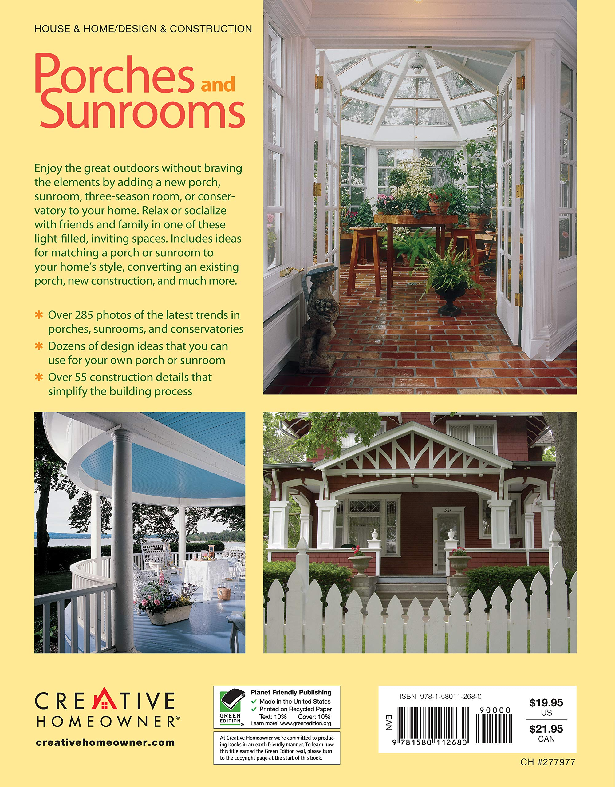 Porches And Sunrooms Planning And Remodeling Ideas Creative Homeowner Home Improvement German Roger Home Improvement Porches 9781580112680 Amazon Com Books