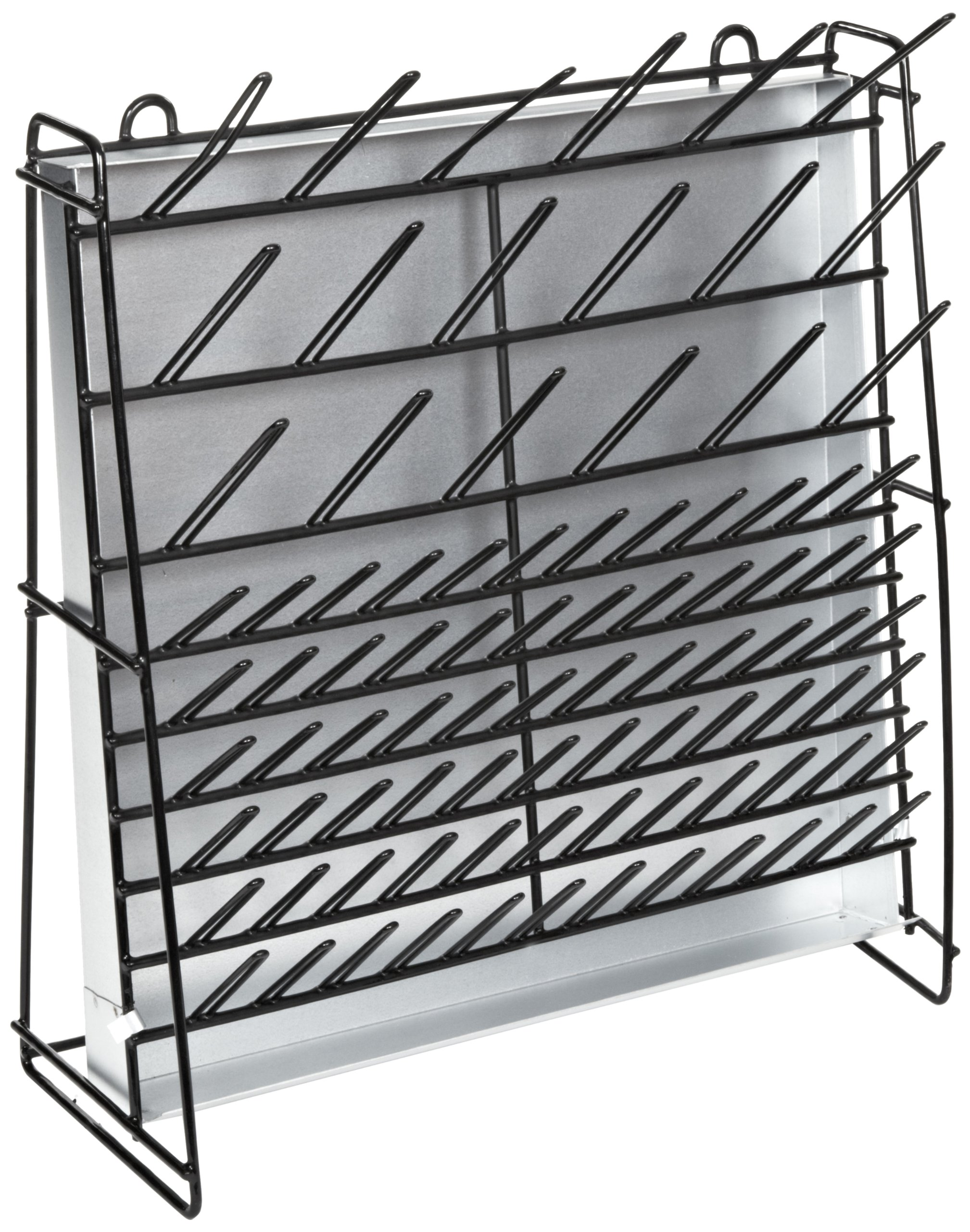 Accurate Wirecraft 901807BK Vinyl Coated Steel Wire Draining and Drying Rack, 47cm Length x 18cm Width x 48cm Height, Black