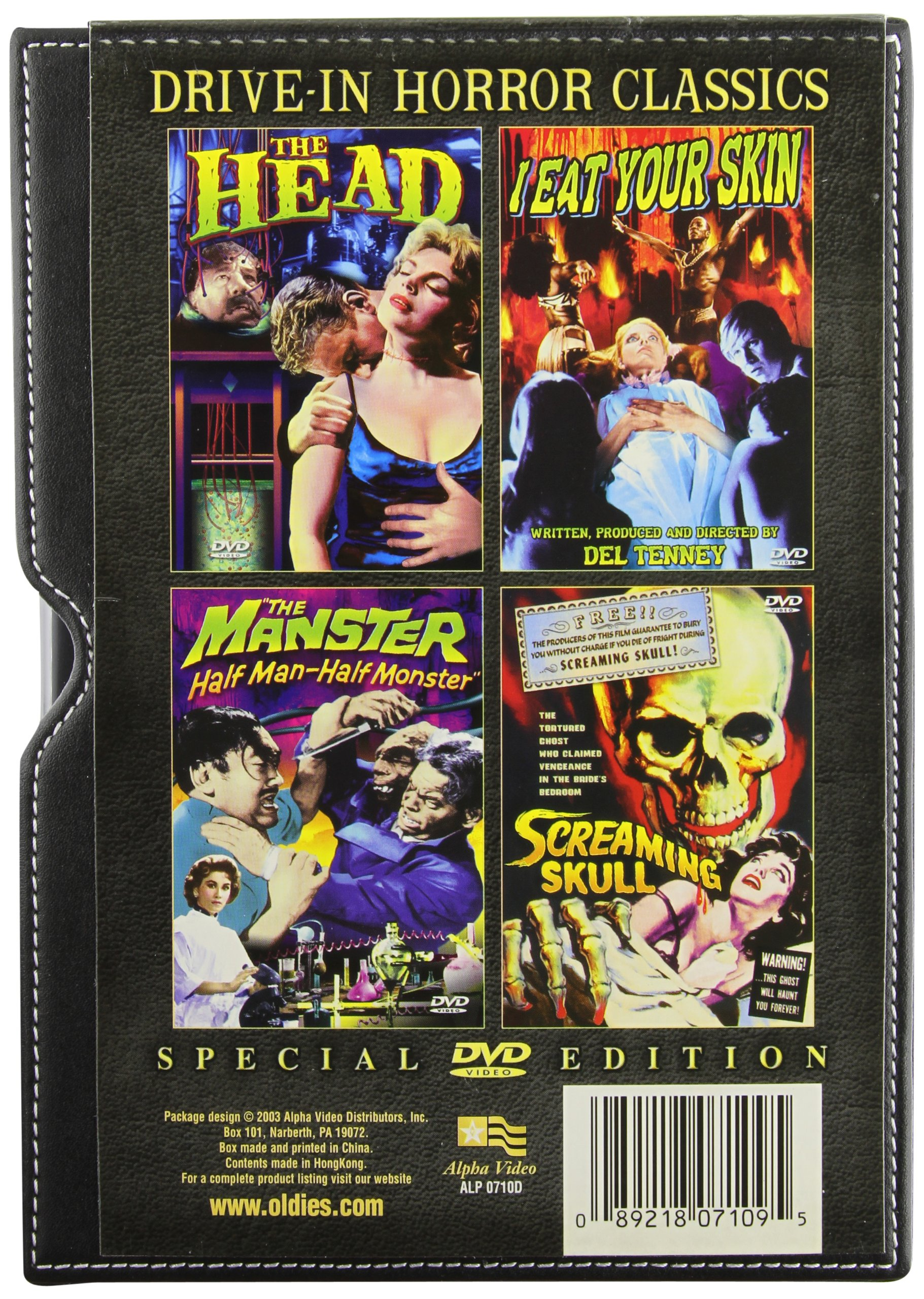 Drive-In Horror Classics Collection (4-DVD Leather Box Set)