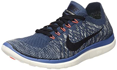 Free 4.0 Flyknit- Blue running shoes