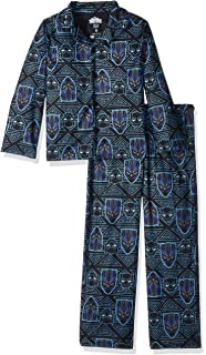 94eda9ff65 Amazon.com: Marvel Boys' Black Panther 2-Piece Pajama Set: Clothing
