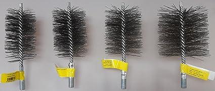 Cepillo para tubo de estufa, cepillo de alambre, cepillo para chimenea, cepillo para