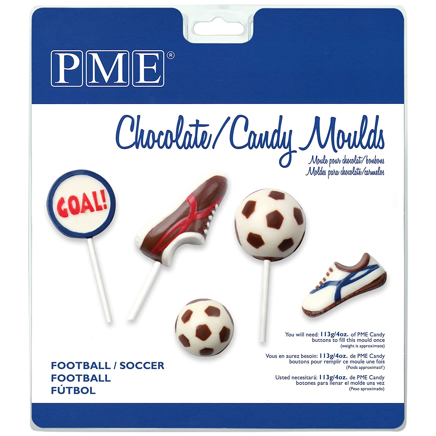 Amazon.com: PME CM402 Chocolate/Candy Mold-Football/Soccer, Standard, Transparent: Kitchen & Dining