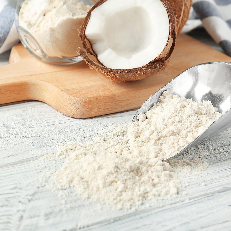 nu3 | Harina de coco orgánica | 800g | alto contenido en fibras alimentarias | alternativa a la harina blanca | Sabroso sabor coco | Alternativa sin gluten ...