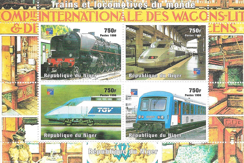 Stampbank Timbres pour collectionneurs Les Trains et Les locomotives du Bloc-Feuillet MNH Mondiale//Niger 1998