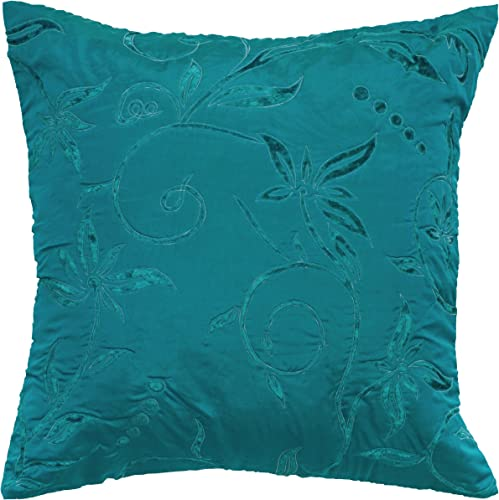 Rizzy Home T05073 Decorative Pillow, 18 X18 , Teal