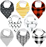 TheAZBaby Baby Bandana Drool Bibs, for Boys and...
