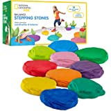NATIONAL GEOGRAPHIC Balance Stepping Stones – 10 Soft and Durable Stones Encourage Early Learning, Create an Obstacle Course