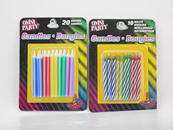 Amazon.com: Omni Party- Relite velas de cumpleaños (-set de ...