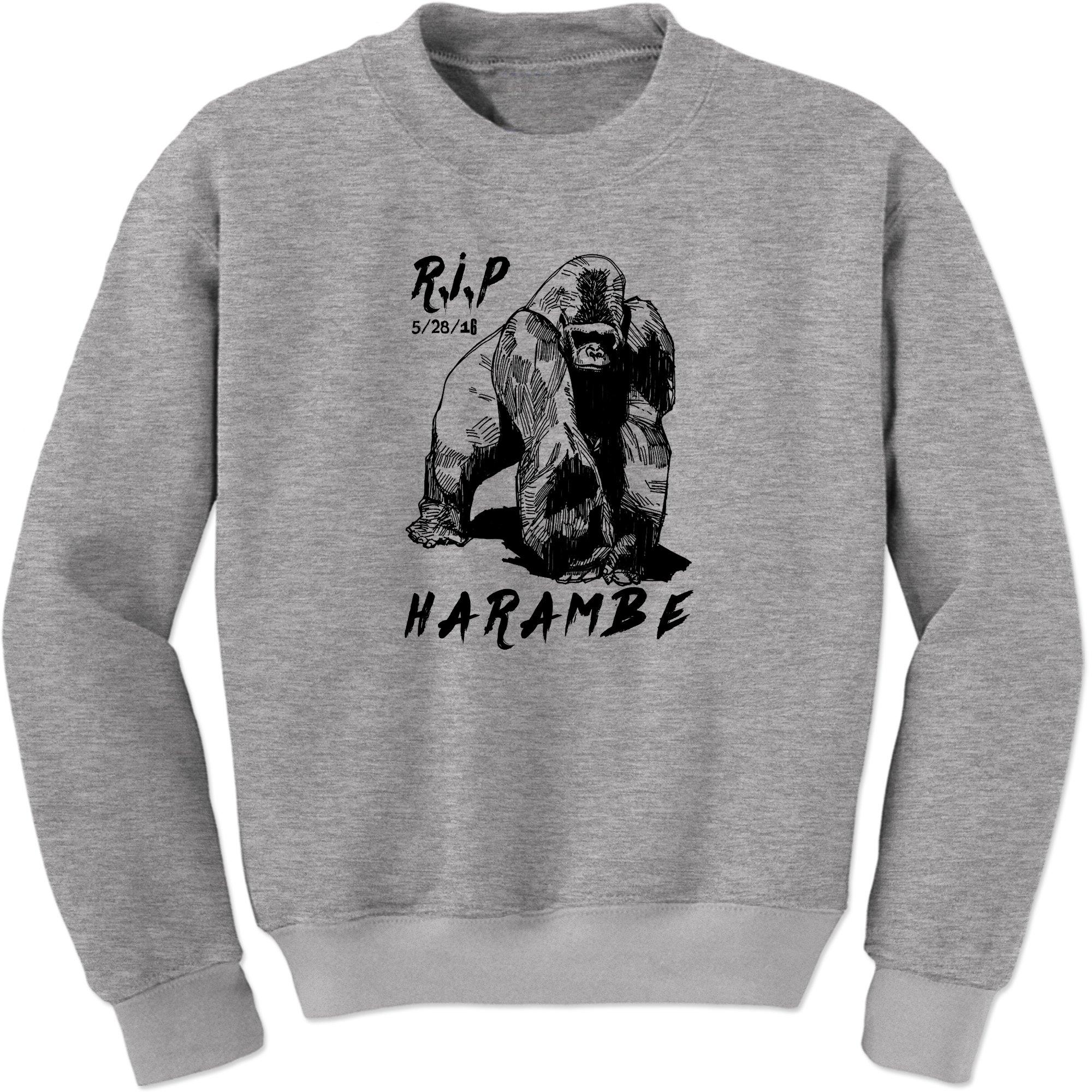 Rip Harambe Cincinnati Zoo Gorilla Crewneck 6620 Shirts