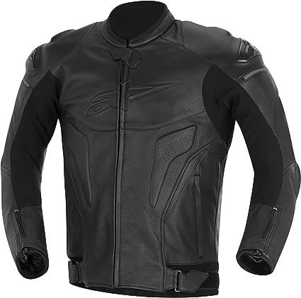 Alpinestars Black Shadow Phantom Leather Jacket 50 Sport Freizeit
