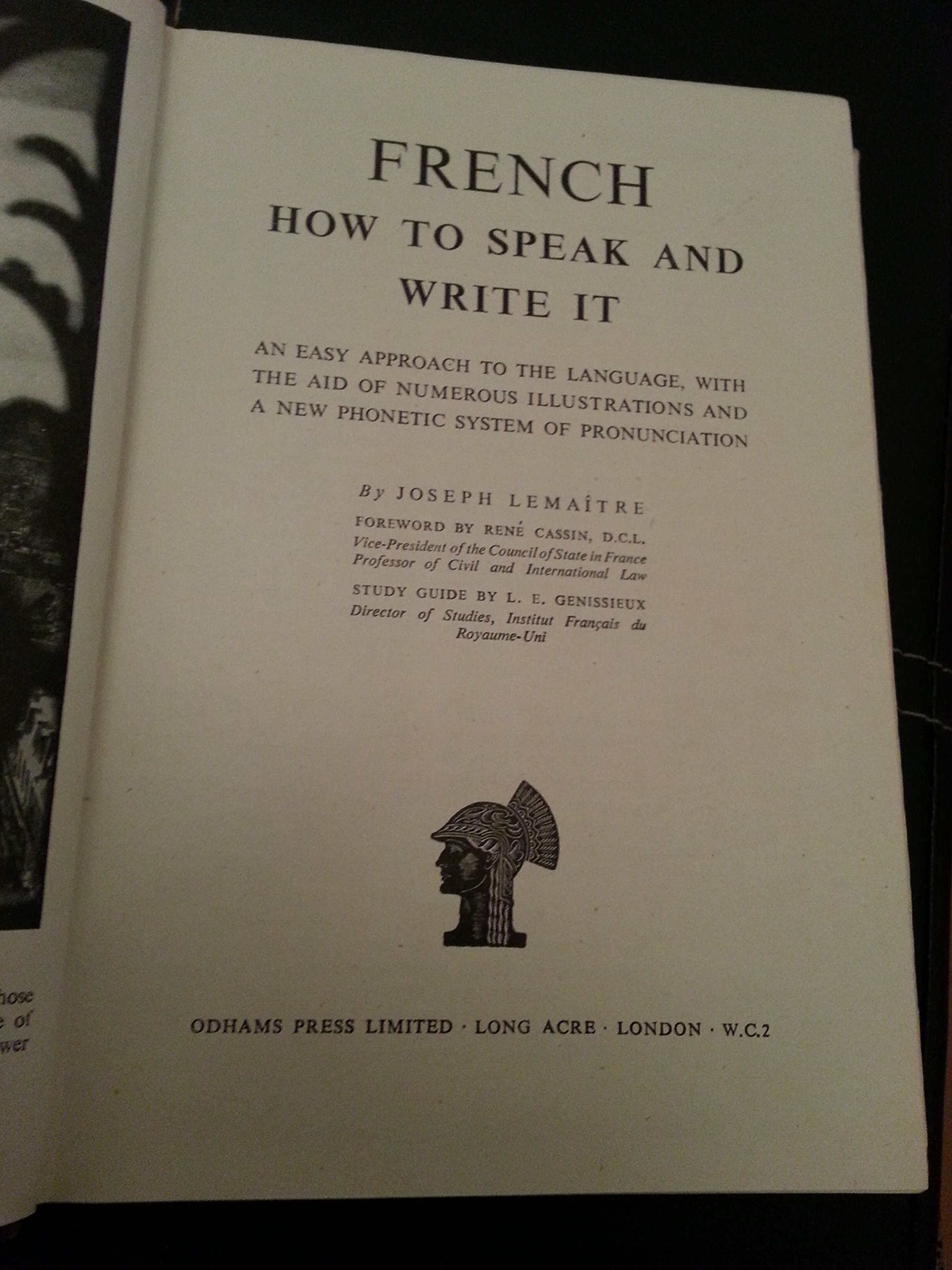 French How to Speak and Write It