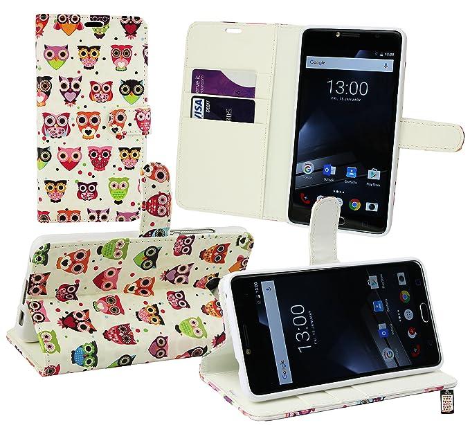 Emartbuy® Vodafone Smart Ultra 7 PU Cuero Funda Carcasa Wallet Case Cover con Tarjeta de