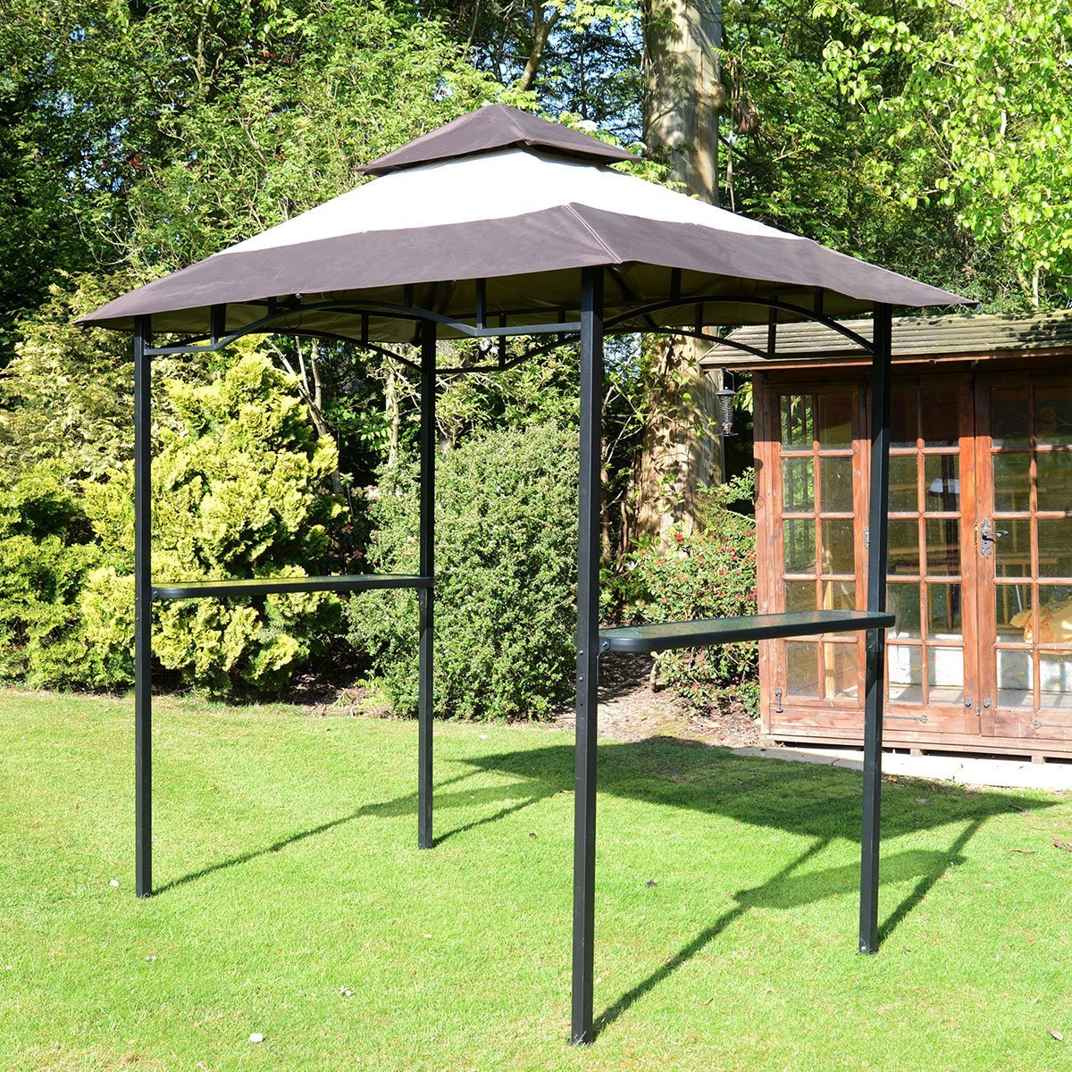 Airwave EX19062 Steel Frame BBQ Bar And Party Gazebo Shelter