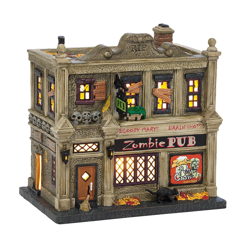 Department 56 Snow Village Halloween The Zombie Pub Lit House, 6.9 inch 4036594