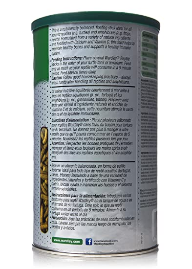 Amazon.com : HARTZ Wardley Premium Amphibian and Reptile Food Sticks - 4.75oz : Dry Pet Food : Pet Supplies