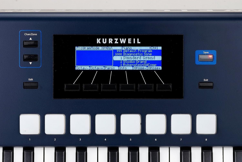 Kurzweil PC3LE6 - Controlador MIDI (61 teclas), color azul: Amazon.es: Instrumentos musicales