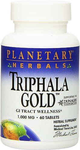 Planetary Herbals Triphala Gold 1000mg – 60 Tablets