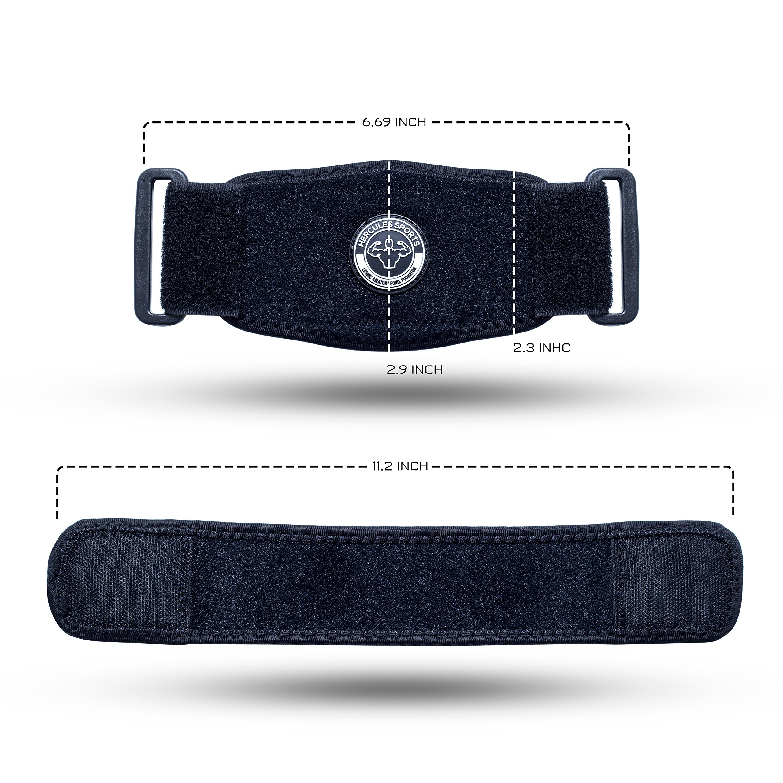 Medical Golfer's & Tennis Elbow brace (2-pack) BONUS Wrist sweatband & Resistance Band quick effective recovery Pain Relief System w/ Compression Pad Tendonitis, Versatile support MEN & WOMEN (Black)