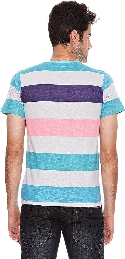 SIX VALVES Camiseta Manga Corta Multicolor L: Amazon.es: Ropa y accesorios
