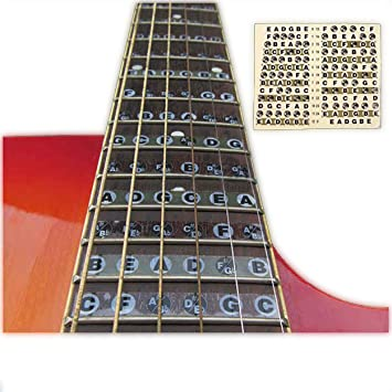 Guitar Fret Stickers Note Fretboard Label - Easy Use - UK Stock - Free  Picks/