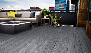 Composite Decking Kit 5 Colours Available 3 6m Length Boards Samples Available Mist Grey 25m2 Amazon Co Uk Diy Tools