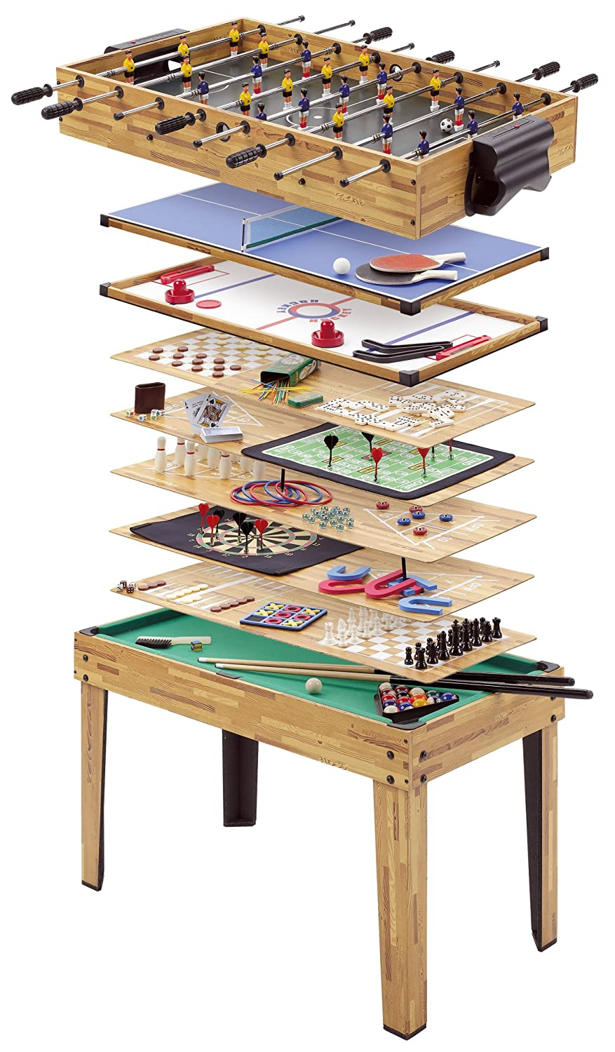 Mightymast Leisure 34 In 1 Multiplay Games Table Amazon Electronics