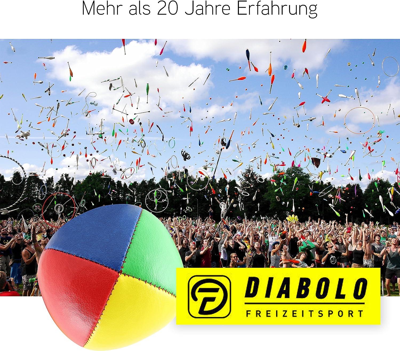 3er Set Diabolo Premium Soft Jonglierb/älle vierfarbig 67mm /Ø ✓ Jonglierball F/üllung aus hochwertiger Vogelhirse ✓ Wasserabweisend ✓ softes Kunstleder I Jonglier-Set f/ür Kinder /& Jugendliche