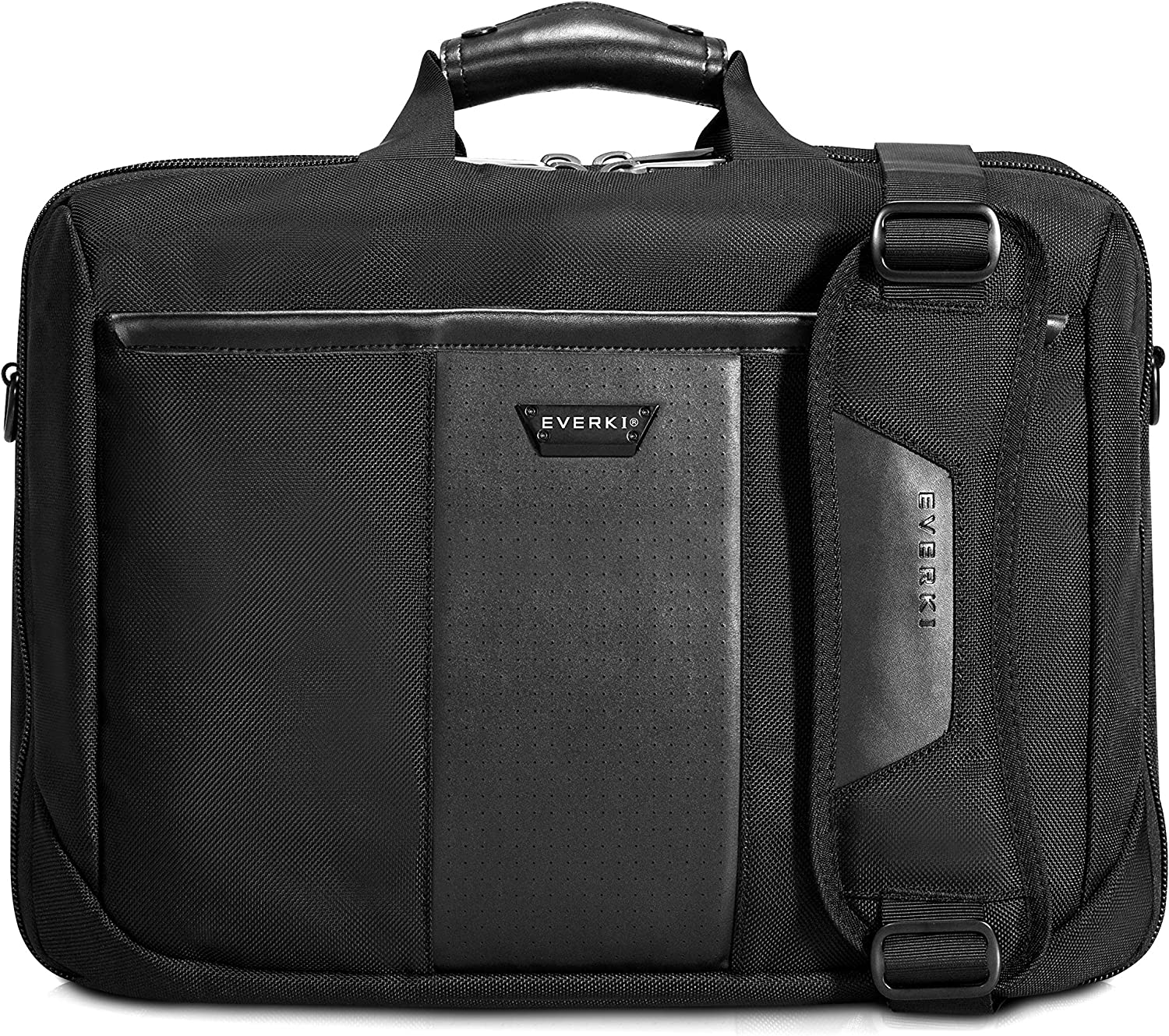 Everki Versa Premium Checkpoint Friendly Laptop Bag - Briefcase, Upto 17.3-Inch (EKB427BK17), Black